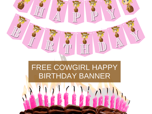 Cowgirl Happy Birthday Banner & Alphabet Banner | Cowgirl Themed Party Decorations