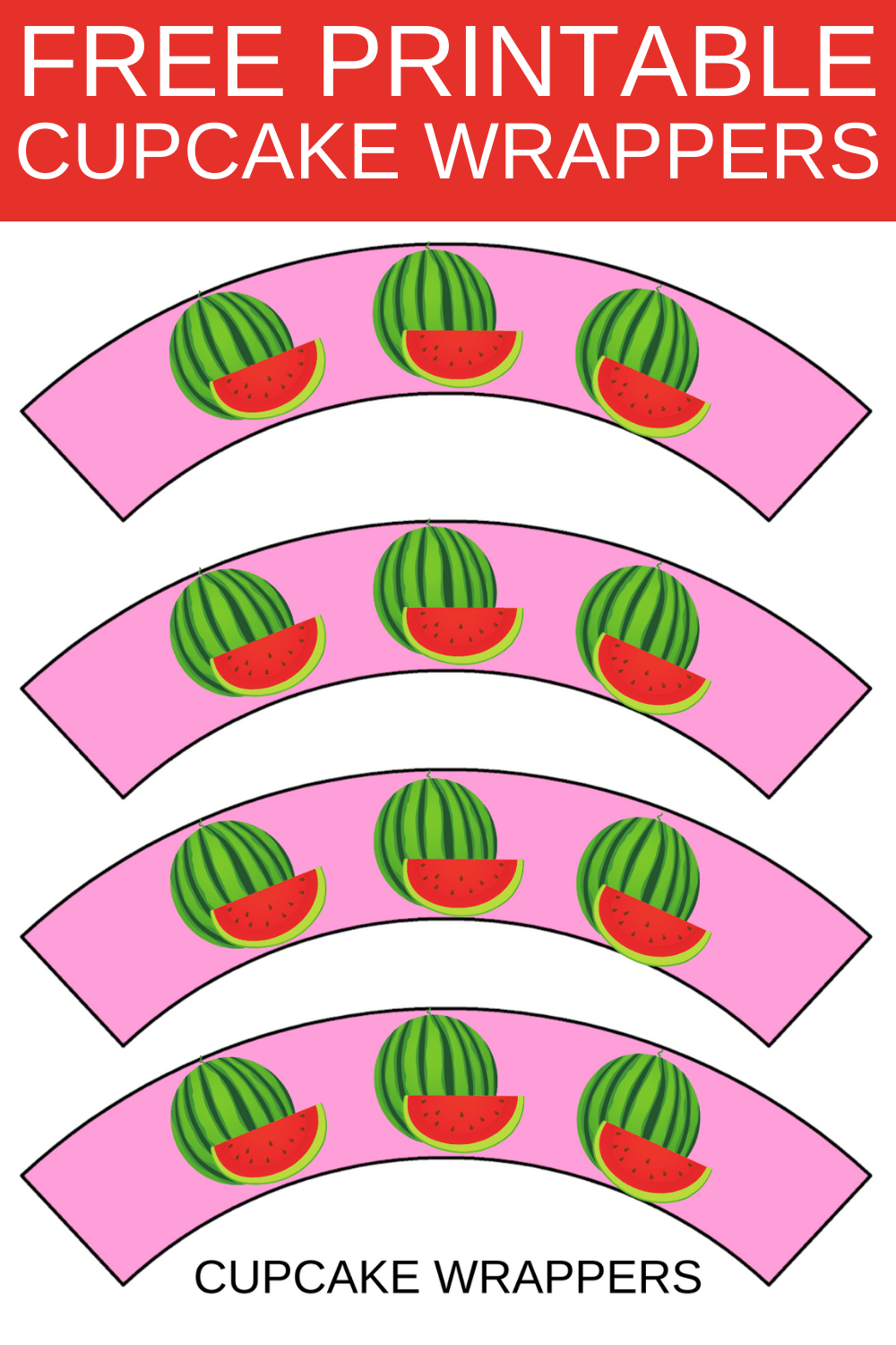 watermelon 1st birthday theme cupcake wrappers