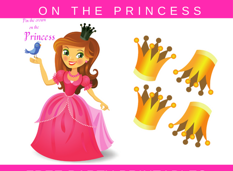 Pin the Crown on the Princess | Free Printable Princess Party Activity