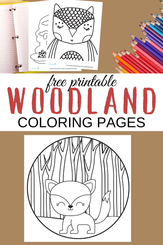 free printable woodland animal coloring sheets
