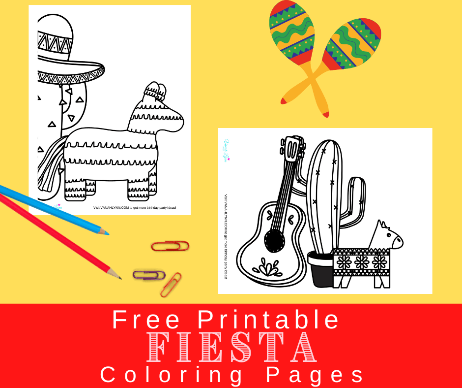 printable fiesta coloring pages