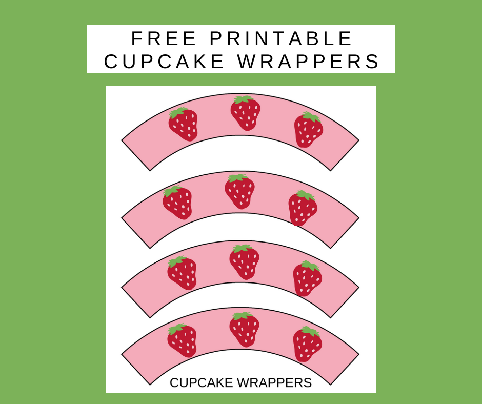 free printable strawberry cupcake wrappers
