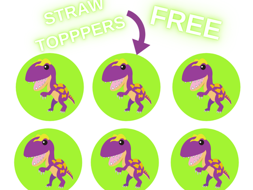 Dinosaur Birthday Decoration Ideas: FREE Printable Dino Straw Toppers