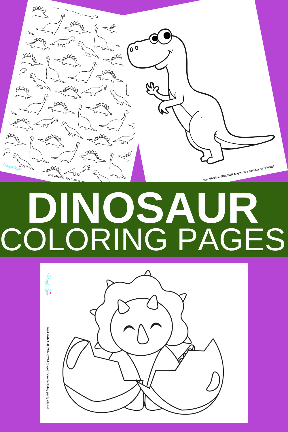 free printable dinosaur coloring pages for toddlers