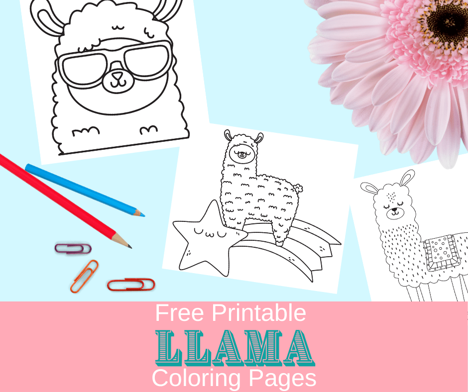 free llama coloring pages