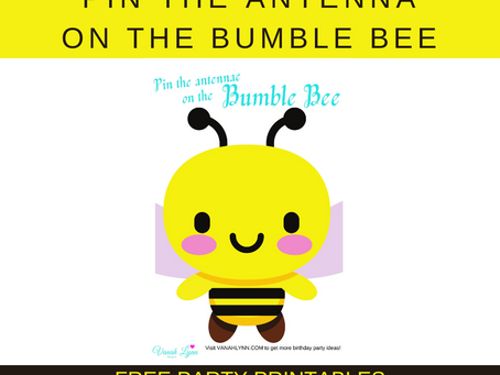 Pin the Antenna on the Bumble Bee | Bumble Bee Party Game | Bee Birthday Activity