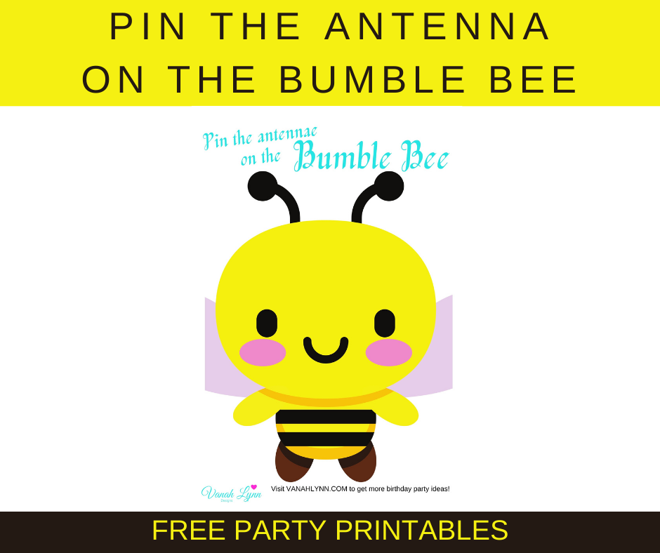 free printable bumble bee birthday party games