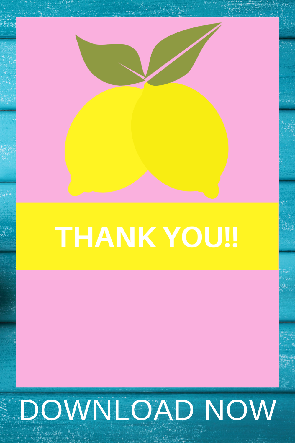 free download: lemon thank you card for a first birthday