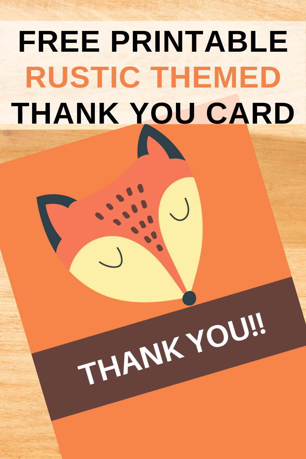 first birthday fox thank you note for kids birthday party