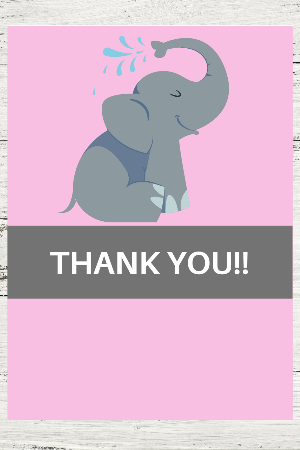 free download: elephant thank you note printable