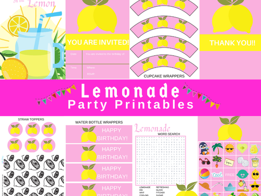 FREE Lemonade Stand Birthday Party Ideas- Print them now!