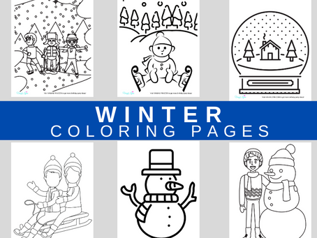 Winter Coloring Pages | Free Printable Winter Activity Sheets | Winter Themed Birthday Party Ideas