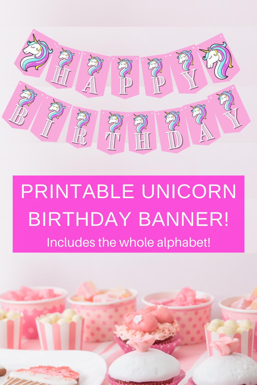 free printable unicorn birthday party ideas