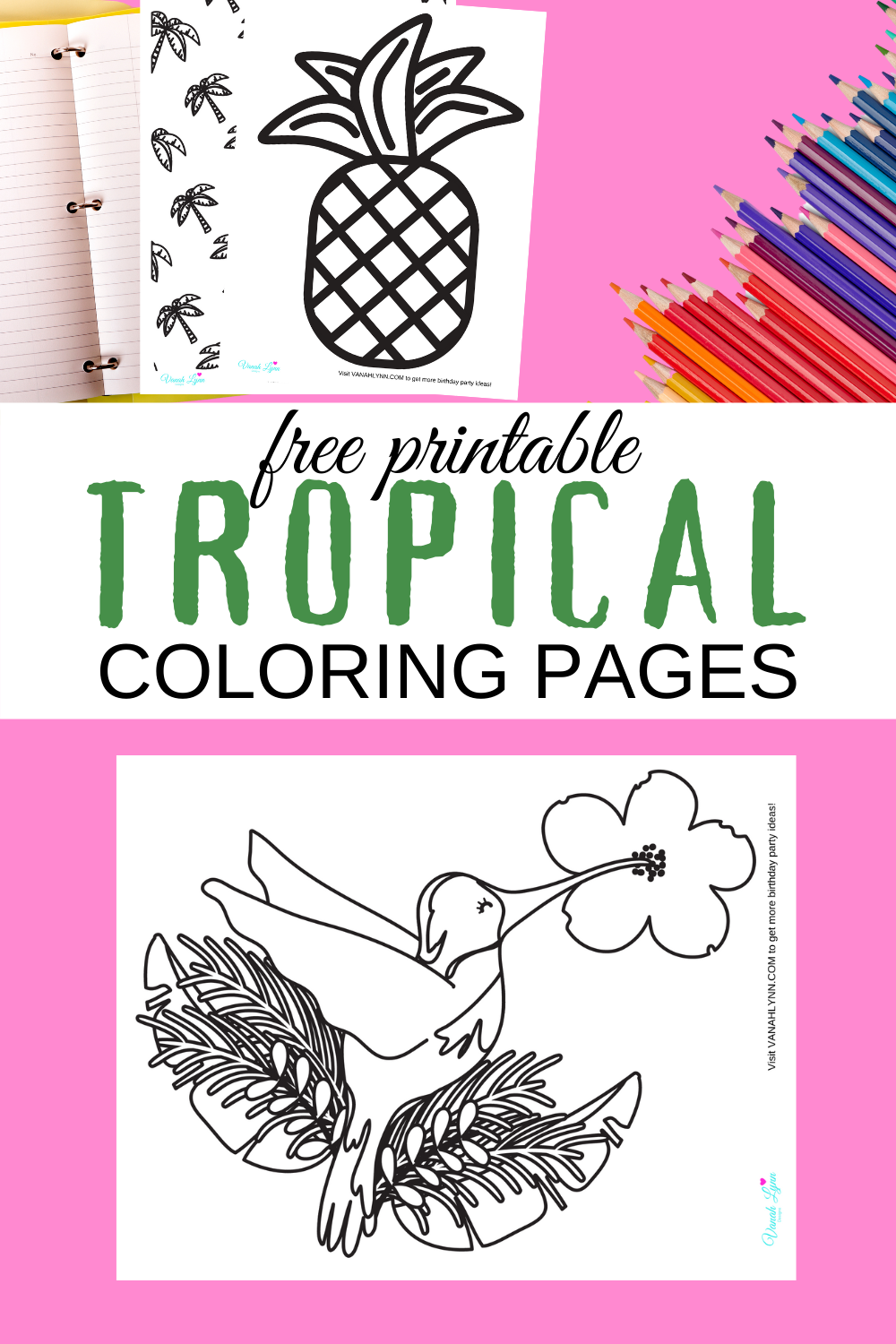tropical coloring sheets for a toddler to color