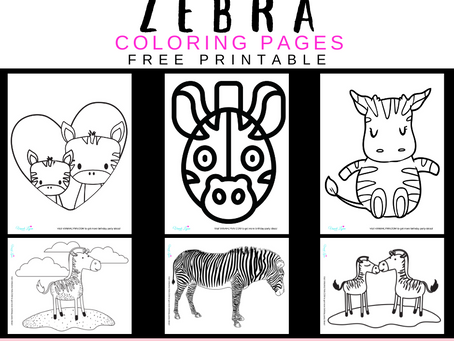 Zebra Coloring Pages | Free Printable Zebra Activity Sheets | Zebra Themed Birthday Party Ideas