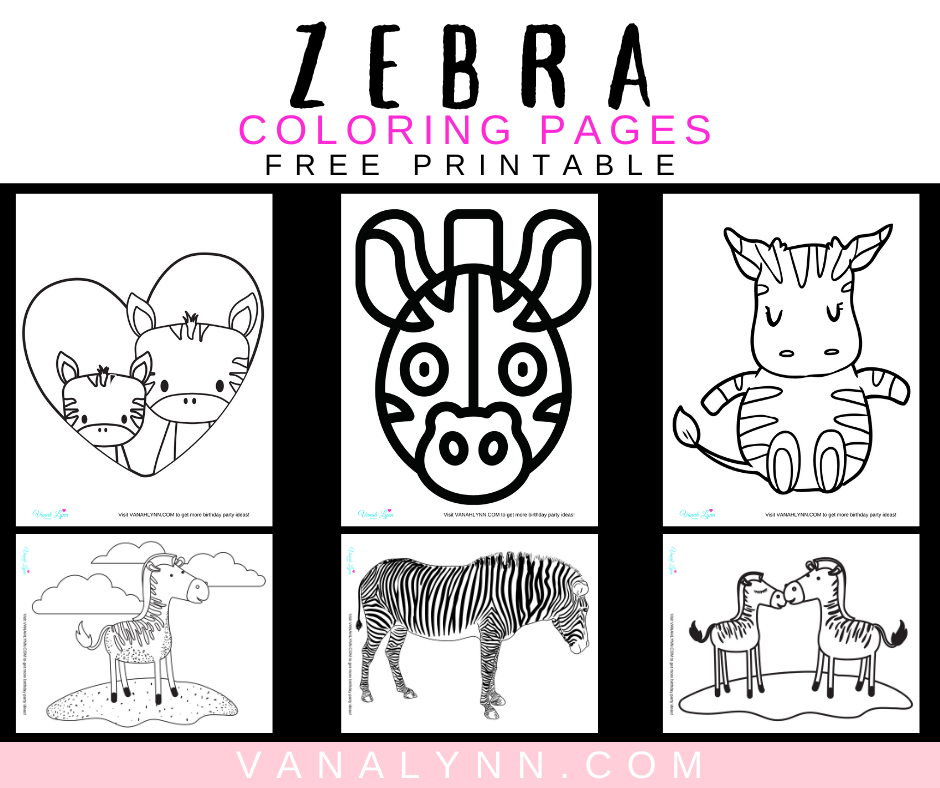 zebra coloring pages for a zebra birthday party