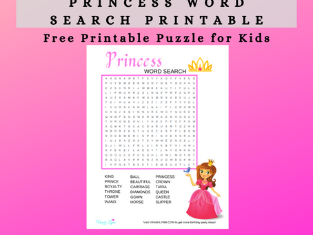Princess Word Search | Free Printable Activity