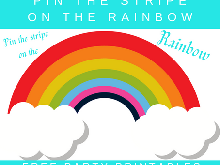 Pin the Stripe on the Rainbow | Free Printable Rainbow Party Game