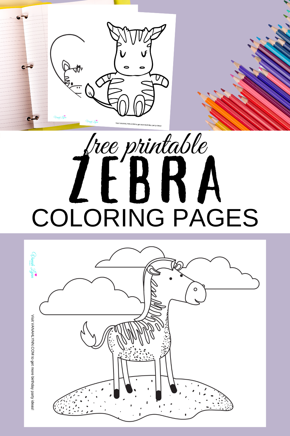 zebra coloring pages for a zebra themed birthday party