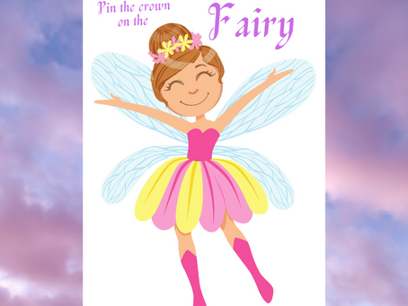 Pin the Crown on the Fairy | Fairy Birthday Party Game Ideas | Fairy Themed Activity for Birthday