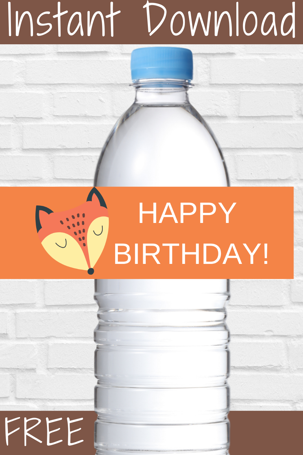 free download: woodland animal water bottle label for kids birthday party