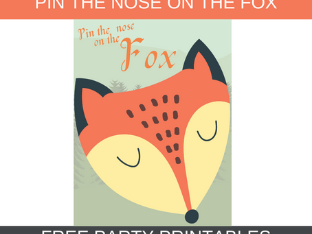 Rustic Themed Party Game: Pin the Nose on the Fox | Rustic Birthday Party Activity
