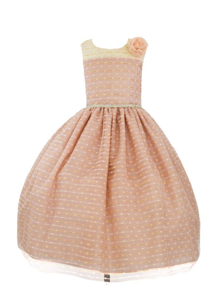 Light pink spring dress for toddler girl