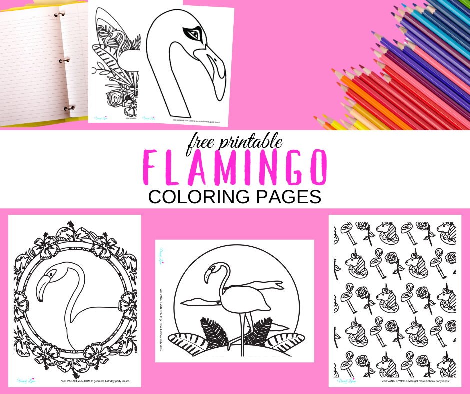 tropical flamingo coloring pages for kids