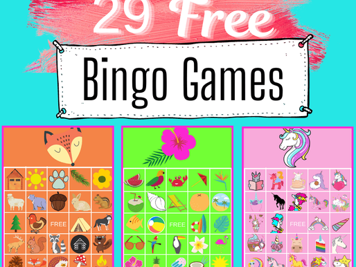 FREE Printable BINGO for Kids - 29 Bingo Games for Parties and Classrooms