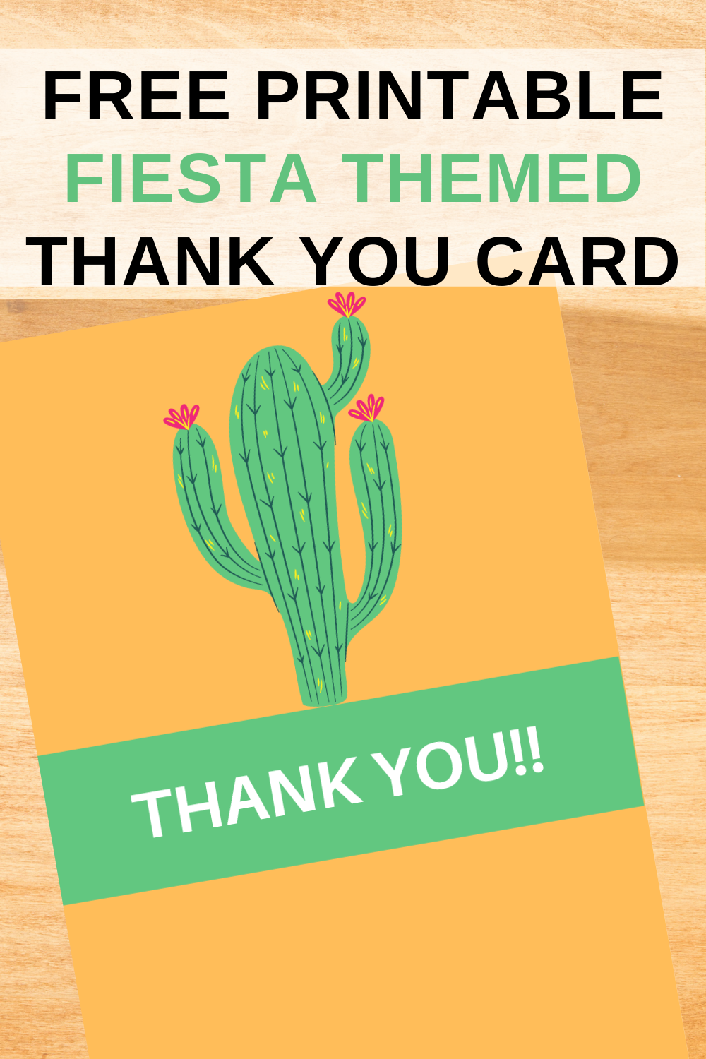 free download: fiesta themed birthday party thank you note