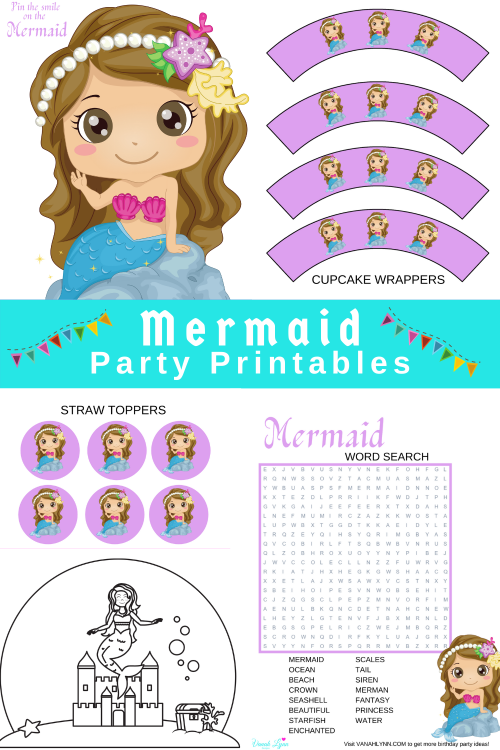 free printable under the sea party kit