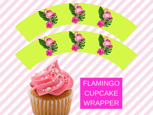 Flamingo Birthday Party Theme: FREE Cupcake Wrappers