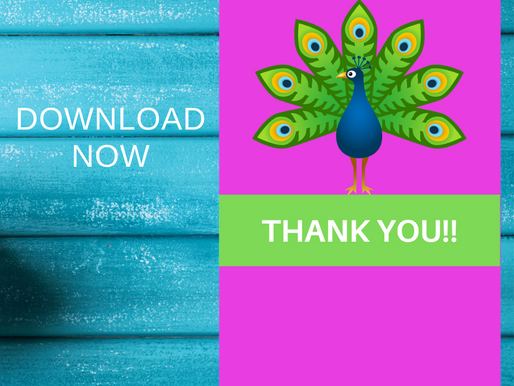 Peacock Thank you Cards | Free Printable Party Ideas