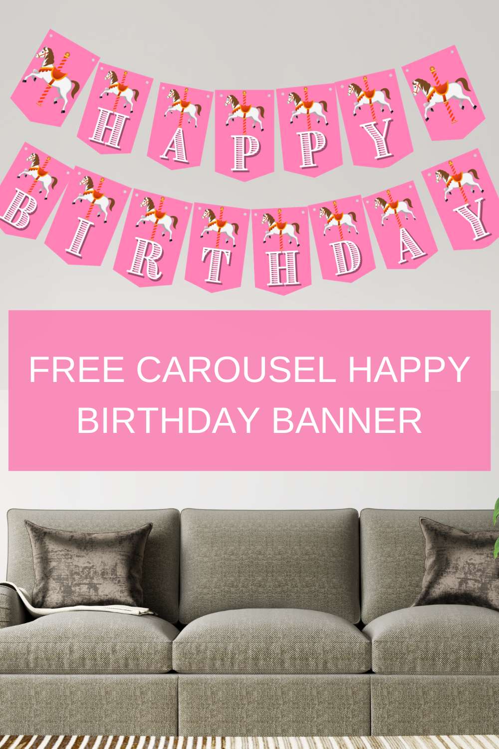 1st birthday banner for a carousel birthday party
