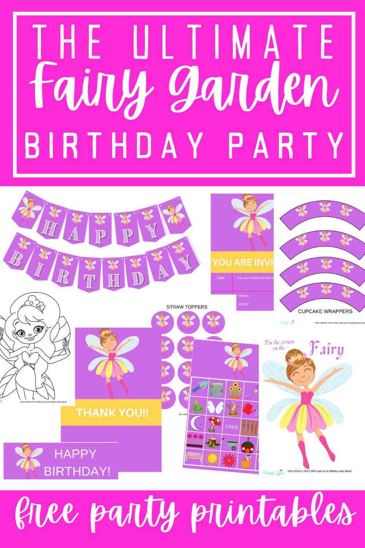 fairy garden 1st birthday party ideas