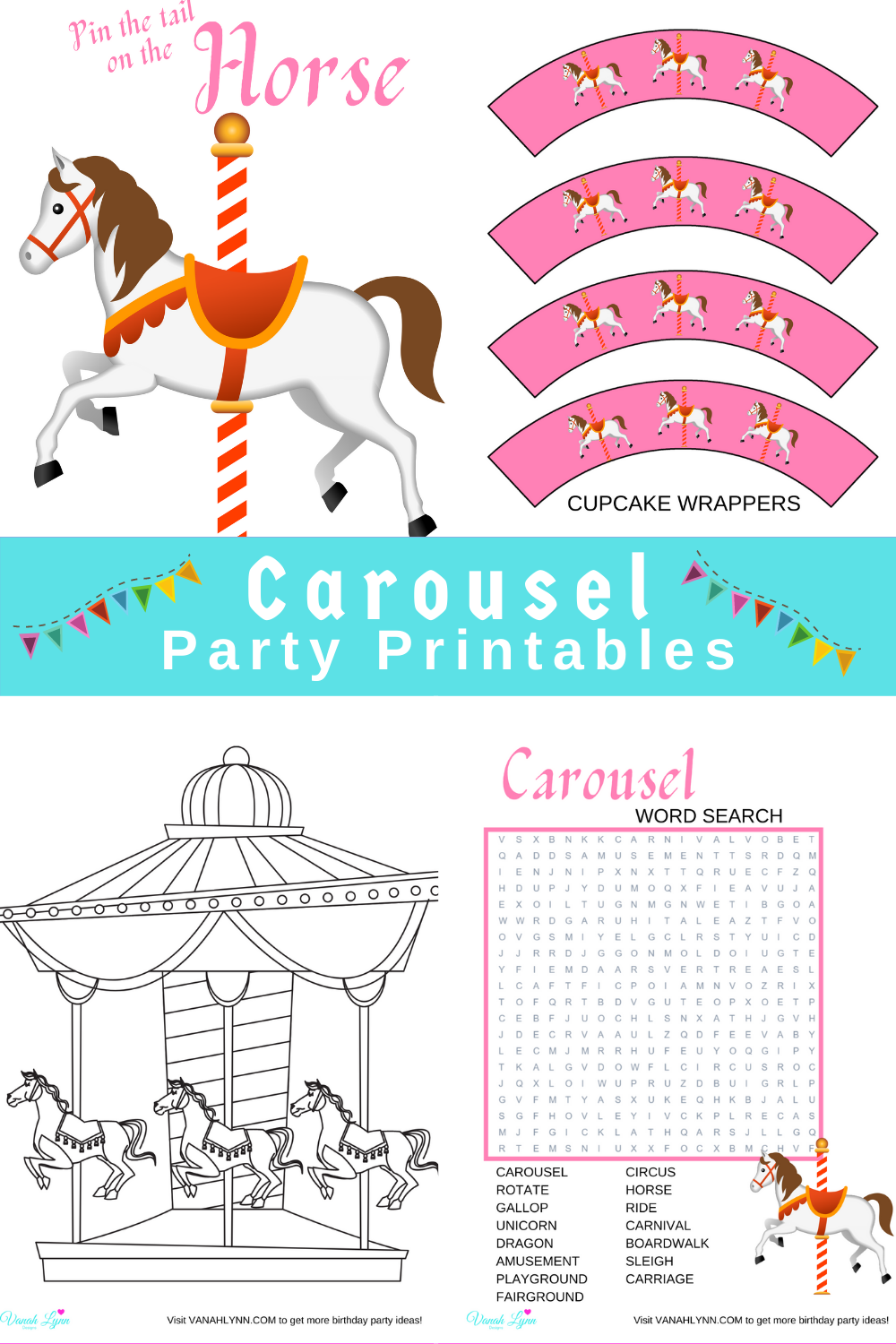 free printable birthday party decorations