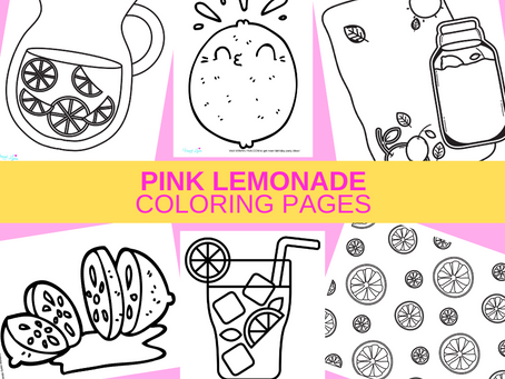 Pink Lemonade Coloring Pages | Free Printable Activity Sheets | Pink Lemonade Birthday Party Ideas