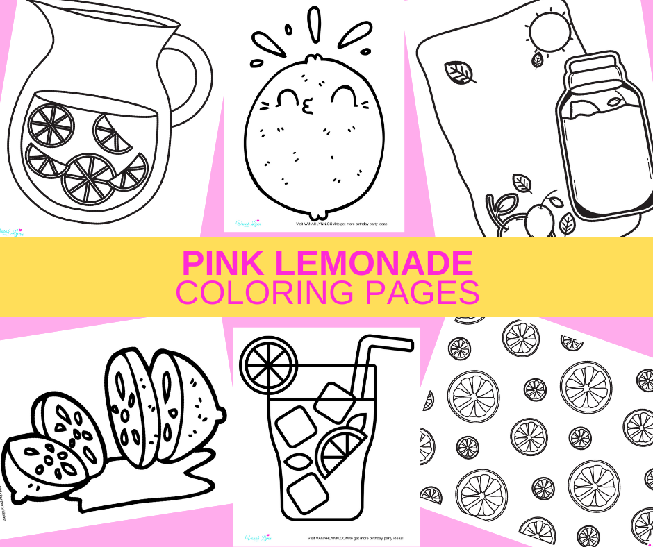 pink lemonade coloring pages for a rainy day activity