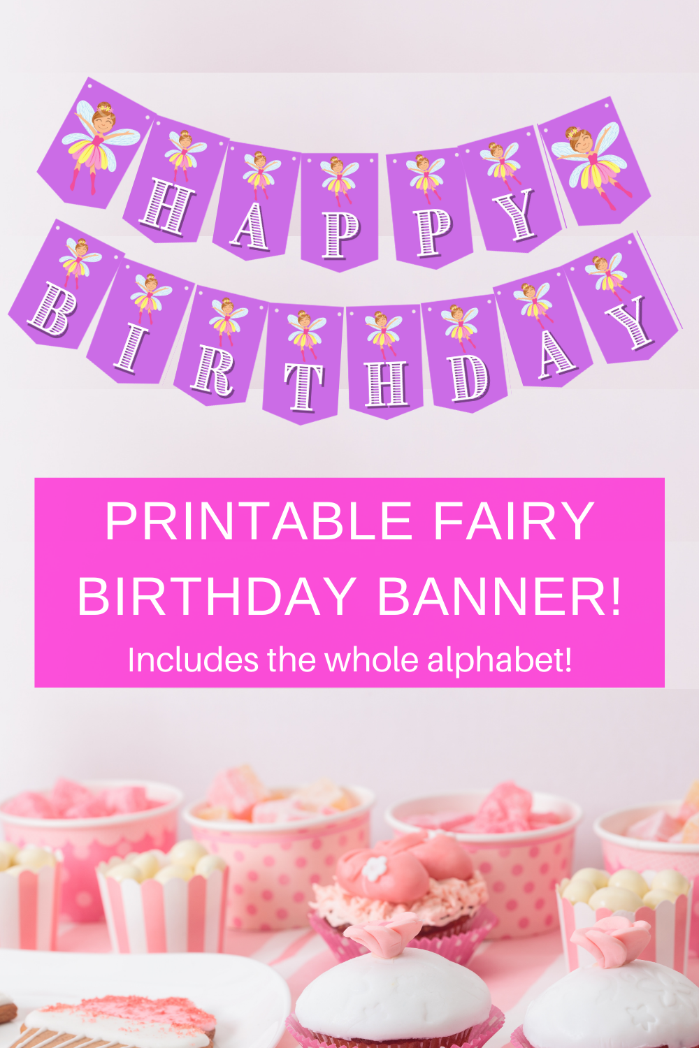 purple birthday party fairy decorations for little girls birthday party