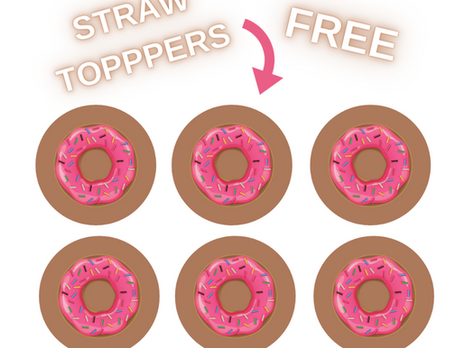 Donut Straw Toppers | Free Printable Donut Themed Birthday Party Ideas | DIY Donut Decorations