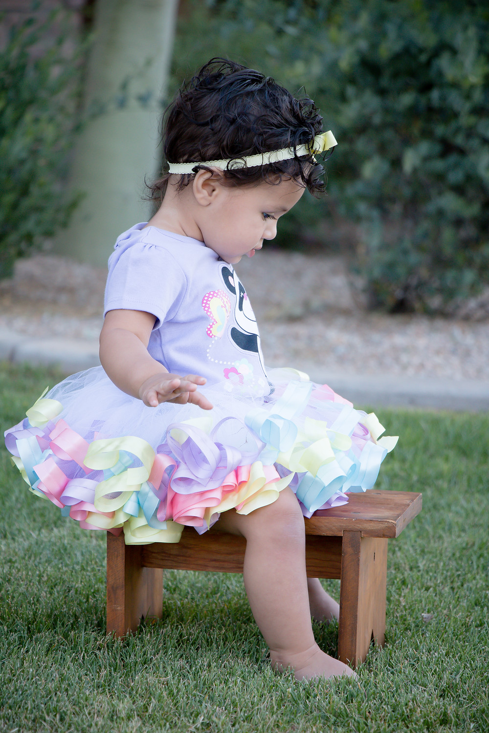 Pastel easter outfit on toddler girl