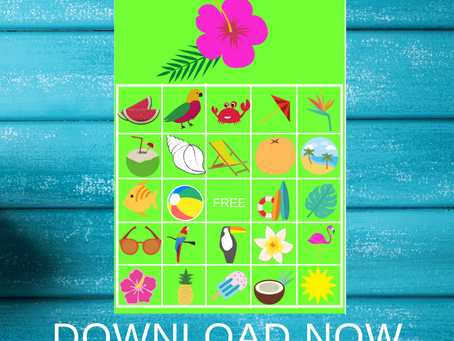 Tropical Bingo | Tropical Themed Party Game Ideas | Tropical Birthday Party Activity