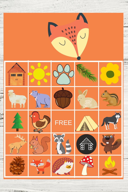 free printable woodland birthday party game ideas