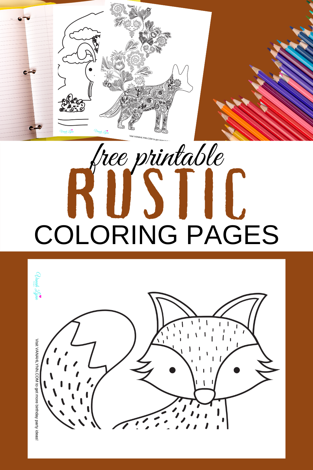 woodland animal themed coloring pages