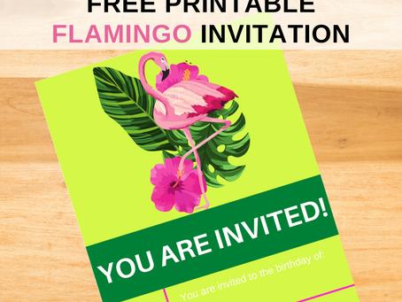 Flamingo Invite | Free Printable Flamingo Invitation | Flamingo Birthday Party Ideas | 1st Birthday