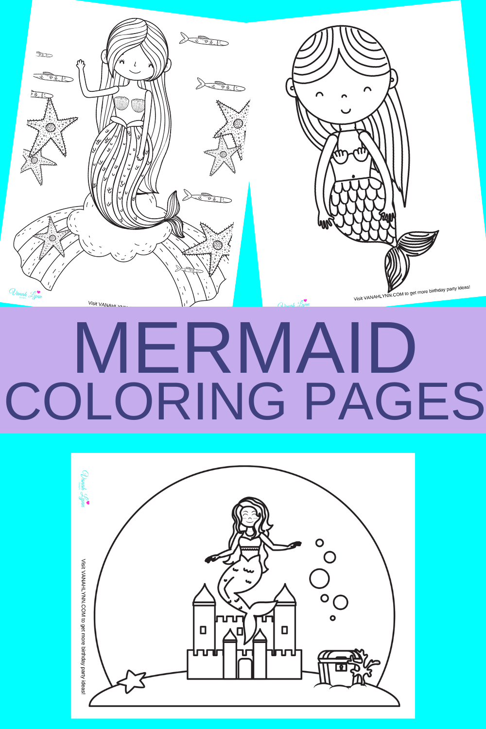 free printable mermaid coloring sheets for a little girl