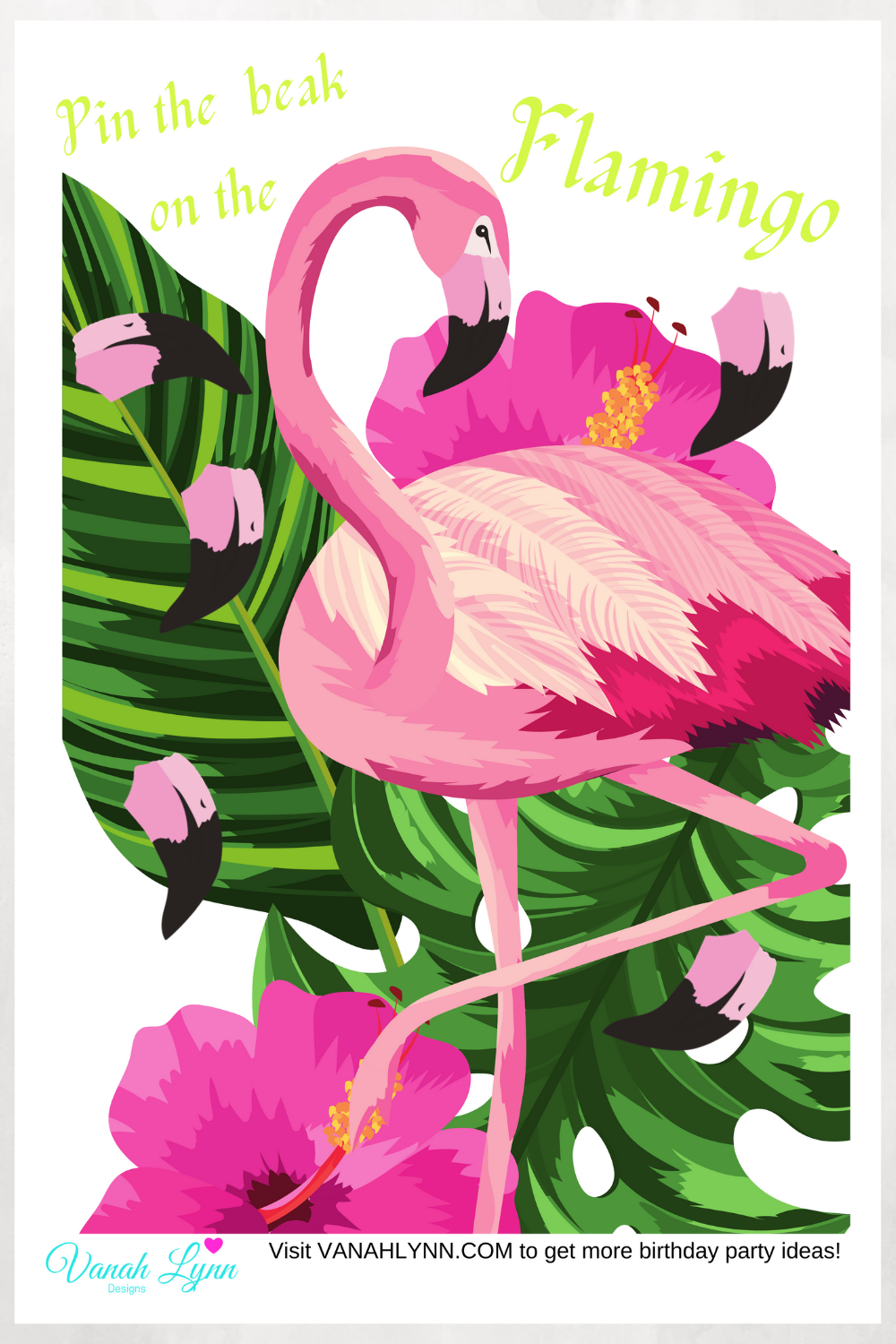 tropical flamingo birthday party ideas for little girls