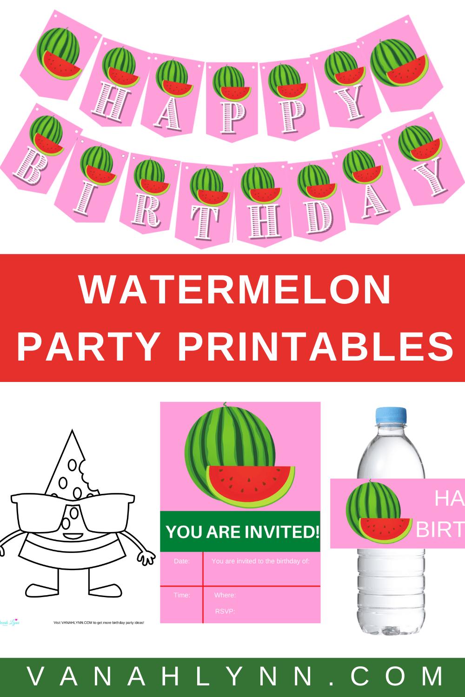 watermelon 1st birthday theme ideas