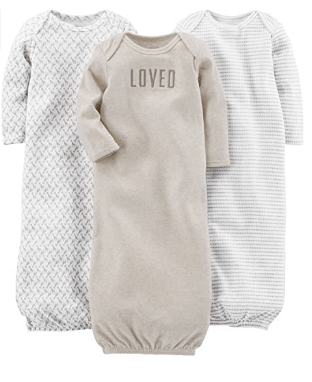 baby shopping list for first time moms: baby gowns
