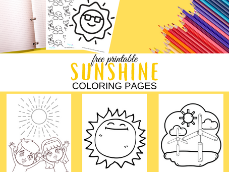 Sunshine Coloring Pages | Free Printable Sunshine Activity Sheets | Sunshine Themed Birthday Party